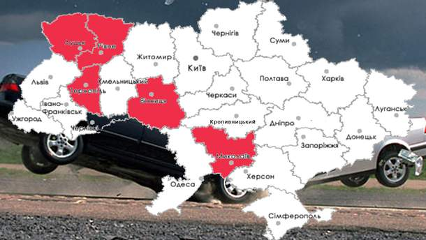 Аварийность на дорогах Украины