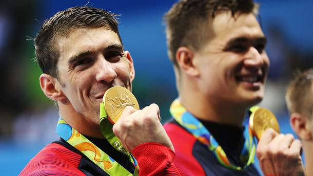 Майкл Фелпс виграв 19 золотих медалей на Олімпіадах