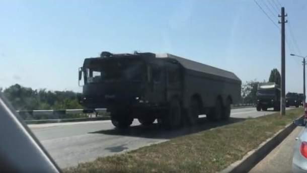 """Комплексы """"Бастион"""" движутся оккупированным Крымом"""