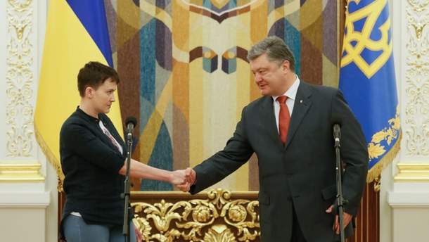 Чи здогадувався Порошенко про наміри Савченко?