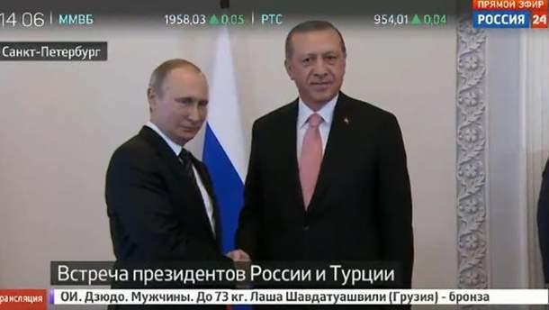 Володимир Путін та Реджеп Таїп Ердоган