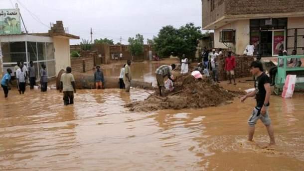 Наводнение в Судане