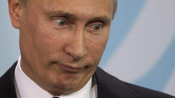 Маніакальний погляд Путіна
