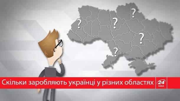 Где самые высокие зарплаты в Украине?
