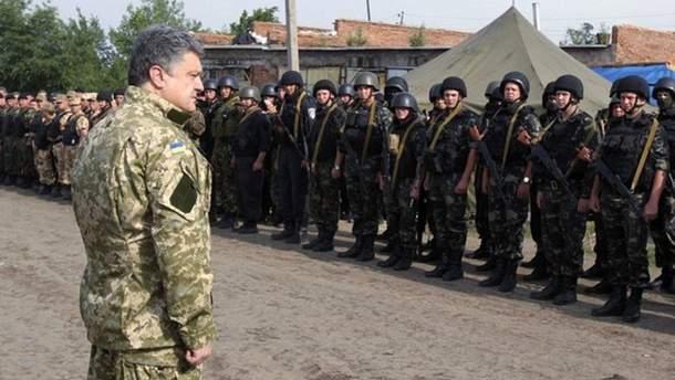 Петр Порошенко встретился с бойцами ВСУ