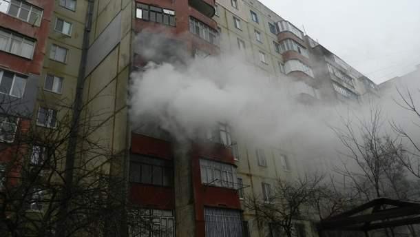 Горіла квартира на 6-му поверсі (ілюстрація)