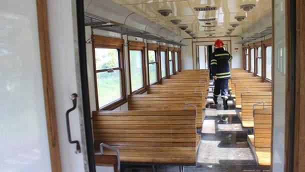 Задымился поезд