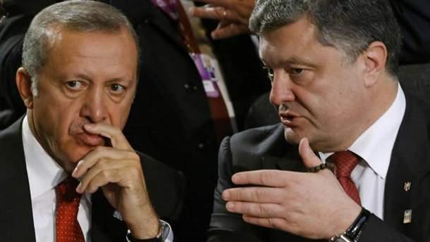 Петр Порошенко и Реджеп Эрдоган