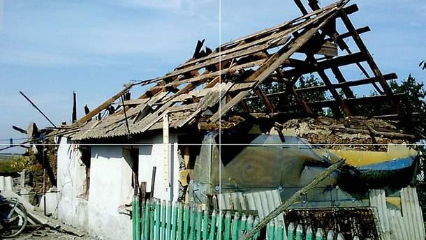 Знищена домівка у селі Солодкому