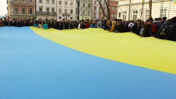 Український синьо-жовтий стяг