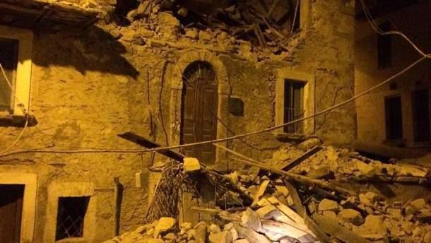 Наслідки землетрусу в Італії