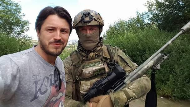 Сергей Притула и один из украинских бойцов