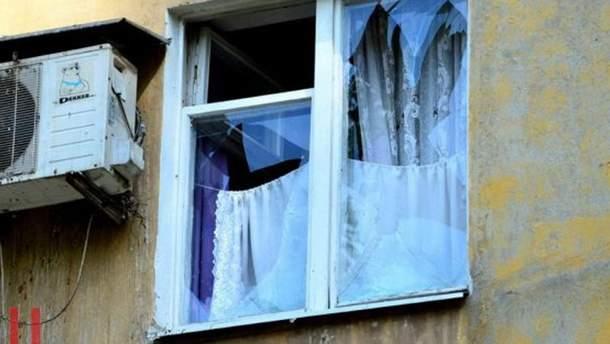 Последствия мощного взрыва в Донецке