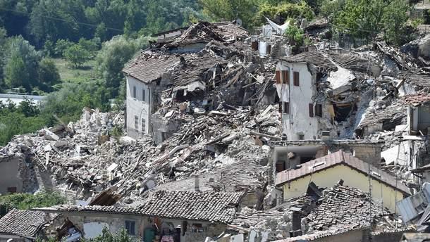Ужасные последствия землетрясения