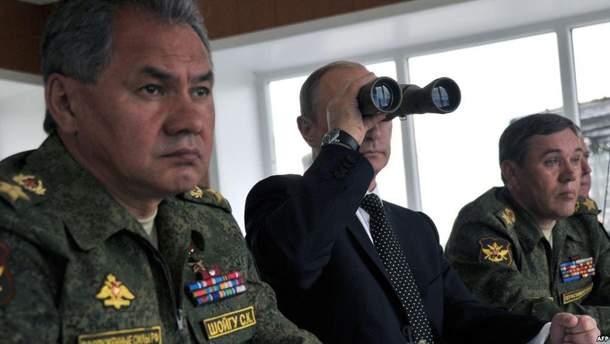 Міністр оборони РФ, Володимир Путін та начальник генштабу ЗСУ Росії