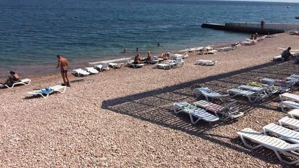 Пляж в Гурзуфе