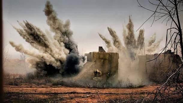 В зоне боевых действий на Донбассе
