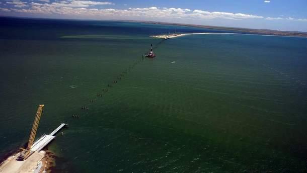 Будівництво моста через Керченську затоку