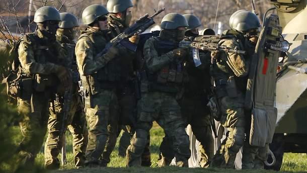 Російські військові на навчаннях