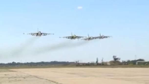Маневры украинской авиации