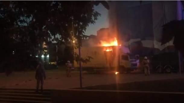 Предвыборный концерт завершился пожаром