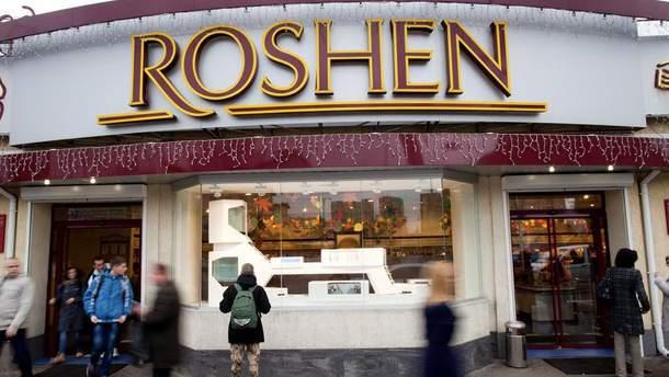 """Киевские магазины """"Рошен"""" снова """"заминированы""""Напомним, это уже не первое сообщение о заминировании магазинов """"Рошен""""."""