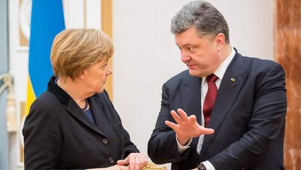 Ангела Меркель та Петро Порошенко