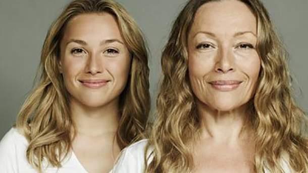 Жінки виглядатимуть у старості так, як їх матері