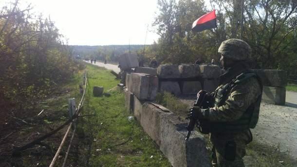 Украинский блокпост