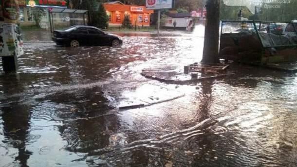 Ливень затопил Одессу