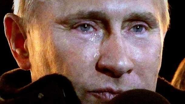 Володимир Путін зронив сльозу