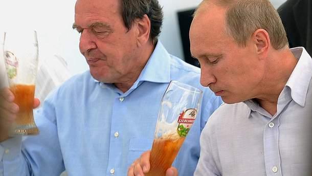 """Герхард Шредер і Володимир Путін: """"За дружбу і за гроші!"""""""