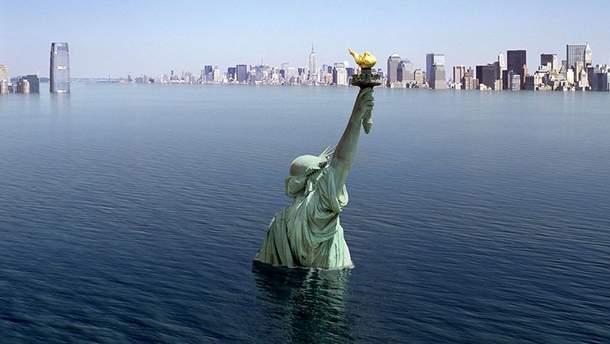 Затоплений Нью-Йорк (ілюстрація)