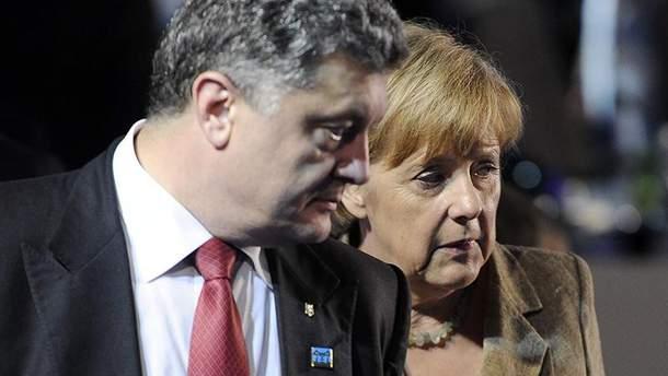 Петр Порошенко и Ангела Меркель