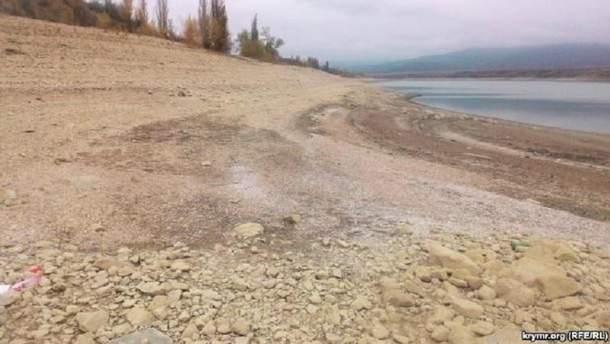 Белогорское водохранилище обмелело