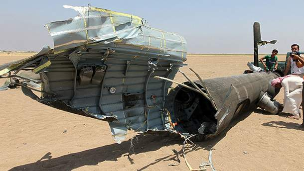 Уламок російського літака в Сирії (ілюстрація)