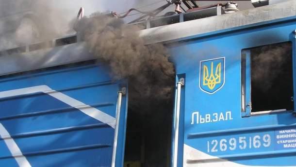 Из кабины машиниста пошел дым, когда поезд осматривали пограничники