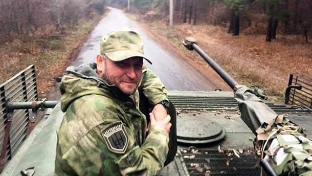 Дмитро Ярош у зоні АТО
