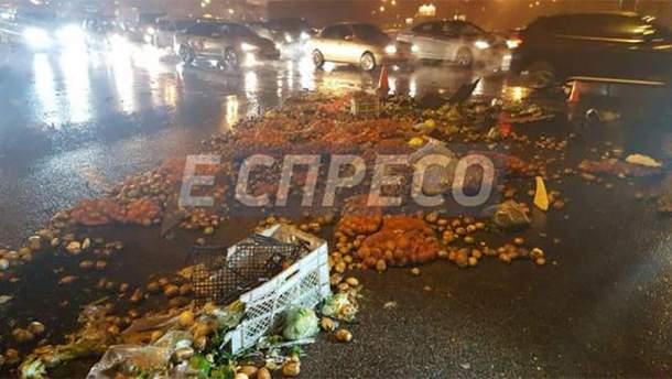 Наслідок аварії у Києві