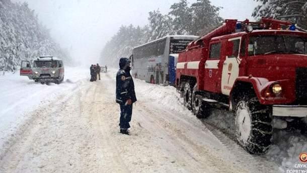 Снігопад на Тернопільщині