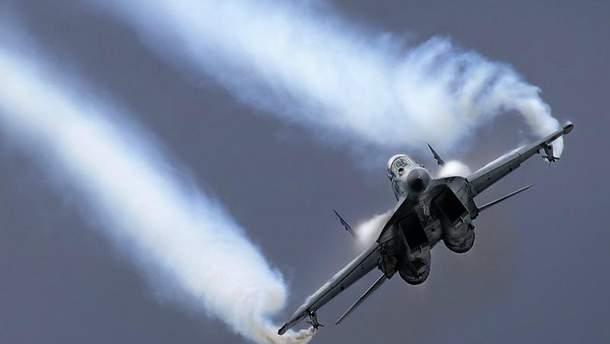 МиГ-29 разбился в Средиземном море
