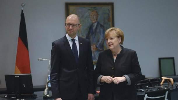 Арсений Яценюк встретился с Ангелой Меркель