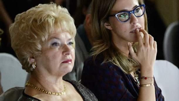 Ксенія Собчак з матір'ю