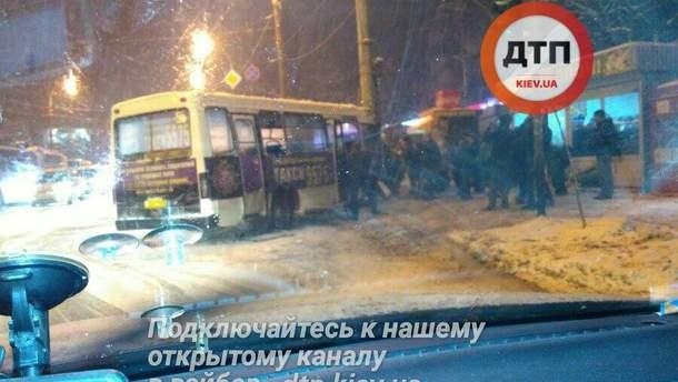 Место ДТП в Киеве