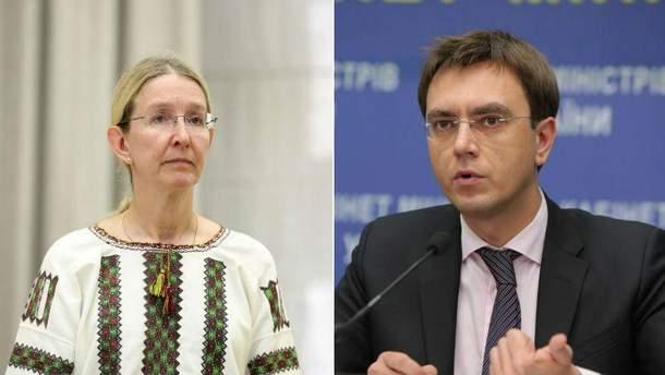 Уляна Супрун та Володимир Омелян
