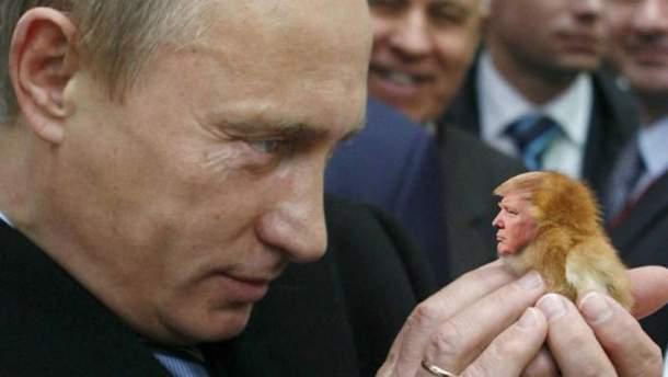 Владимир Путин и Дональд Трамп: фотожаба