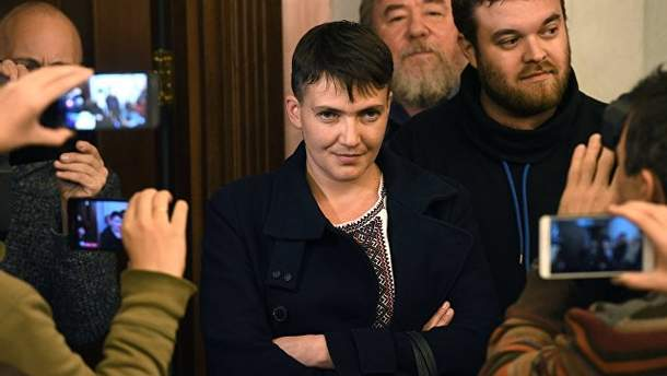 Надія Савченко у Москві