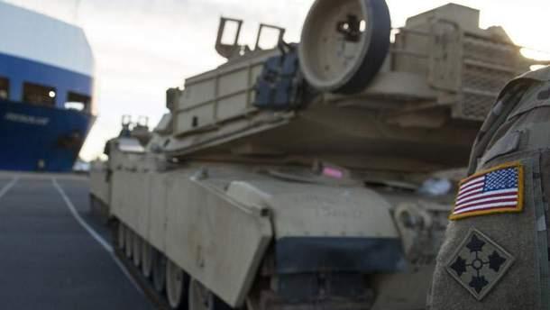 Военная техника НАТО прибыла в Польшу