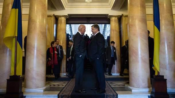 Віце-президент США Джозеф Байден та Президент України Петро Порошенко