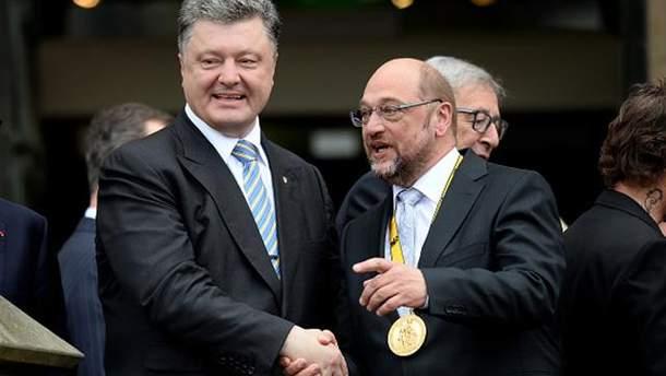 Петро Порошенко та Мартін Шульц